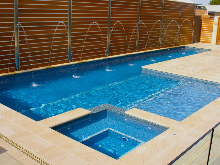 Aquazone pools tiled swimming pools gallery for Spa and pool