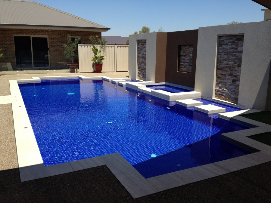 Aquazone pools inground swimming pools gallery for Swimming pool gallery