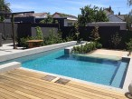 Ascot Vale Lap pool with glass wall feature